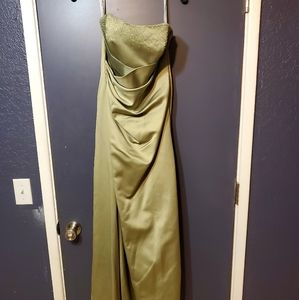 Alfred angelo floor length bridesmaid dress